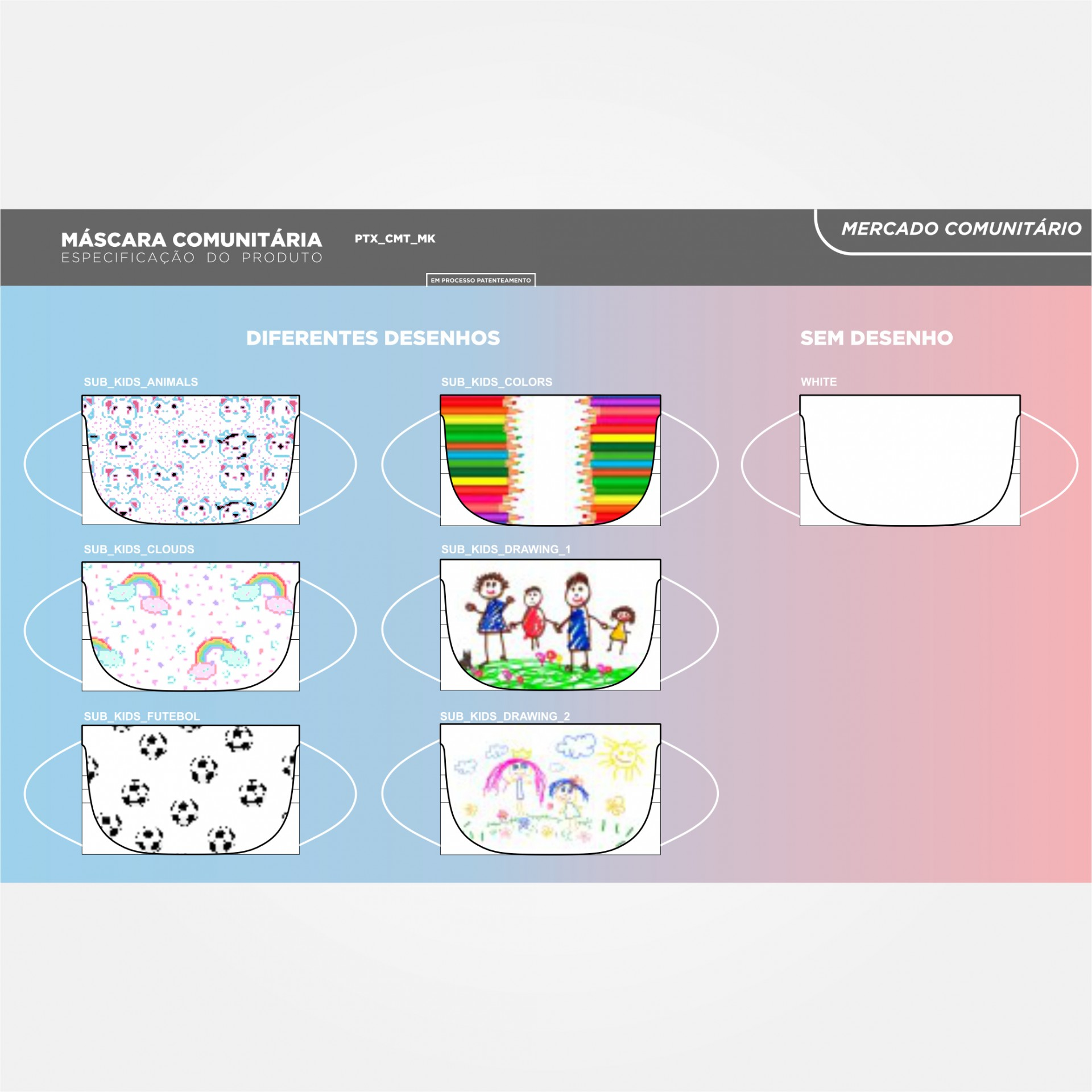 Máscara Infantil Certificada 6 camadas Nível 2