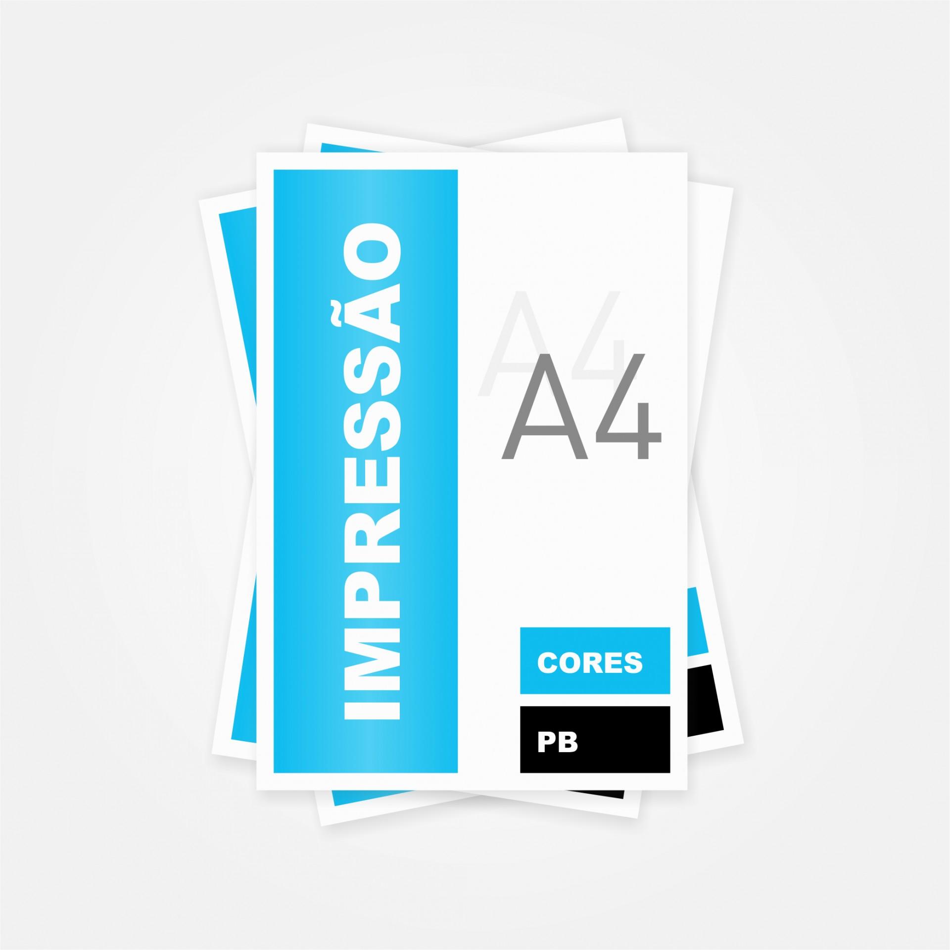 Impressão A4 (Preto ou Cores)