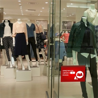 Sinalética Autocolante (Comércio e Shoppings) COVID19