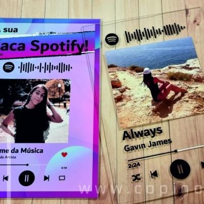 Placa Acrílico Spotify