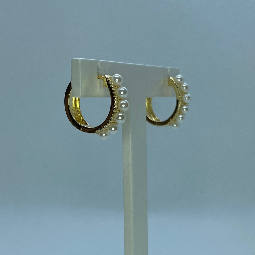 Argolas Prata Dourada