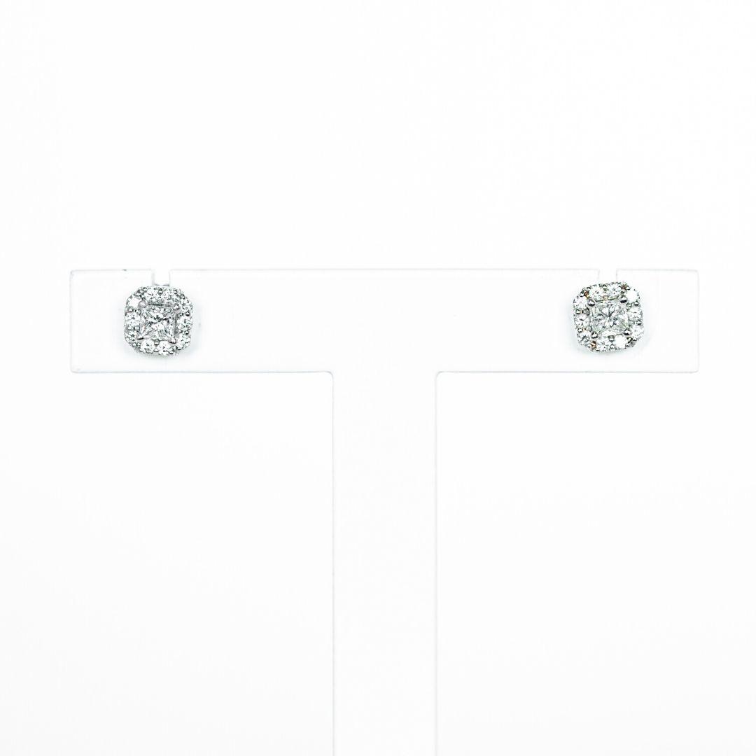 Brincos Ouro 19,2k e Diamantes
