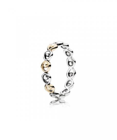 Anel Pandora Prata e Ouro
