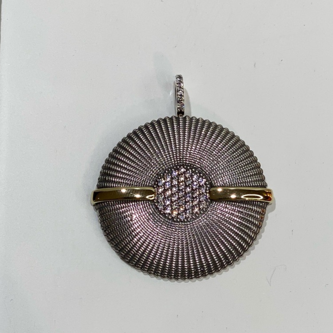 Medalha Leaf Prata e Ouro