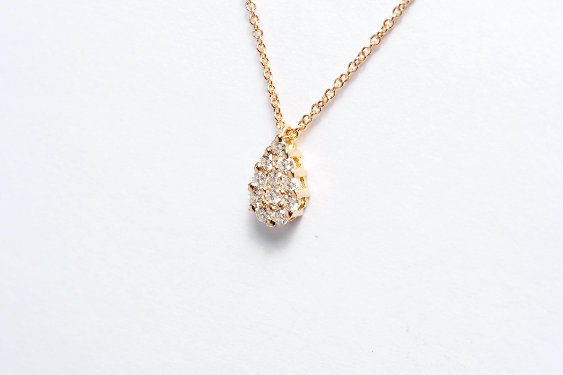 Colar Ouro 19,2k e Diamantes
