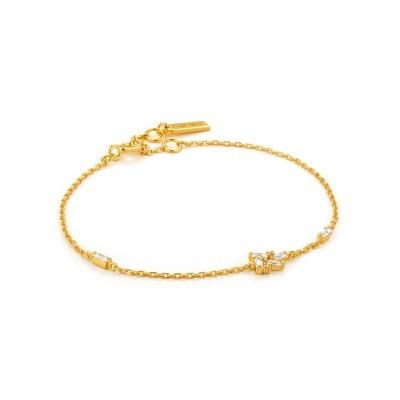 Pulseira prata dourada