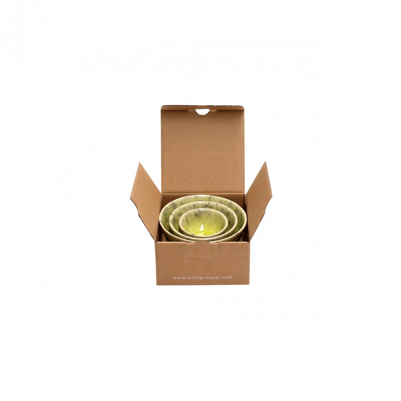 Gift 3 Taças Madeira - Verde Limão