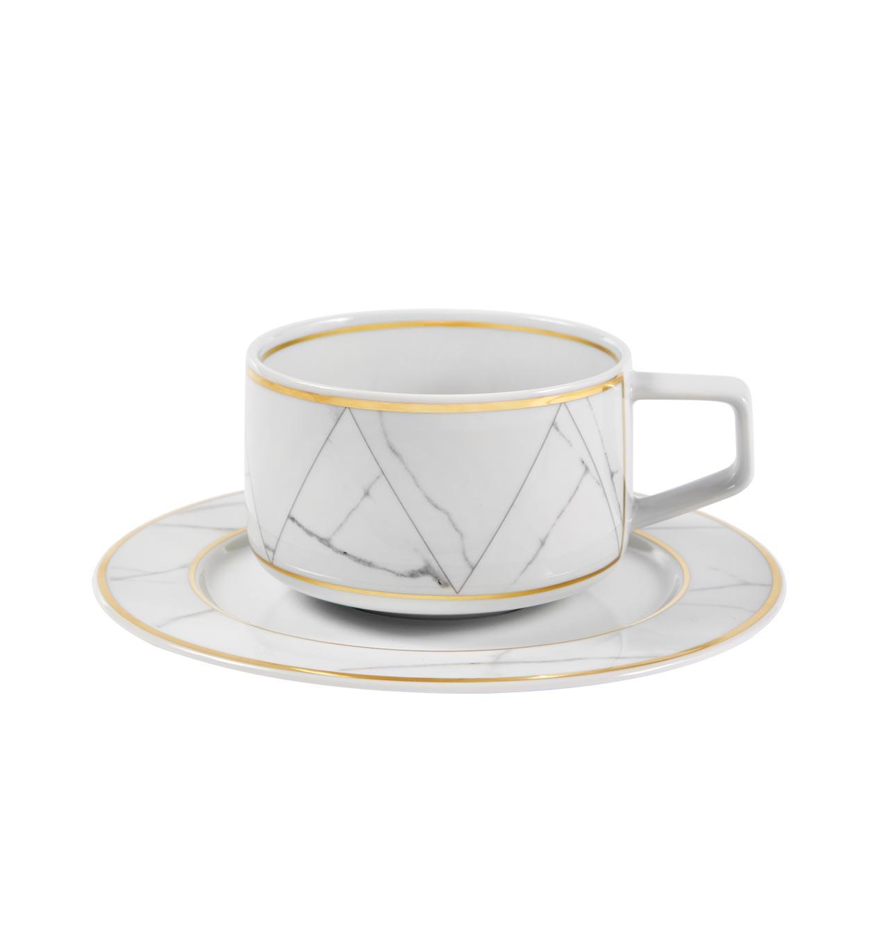 Chávena Chá com Pires Carrara