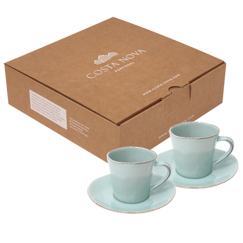 Gift 2 Chávenas e Pires Chá NOVA - Turquesa