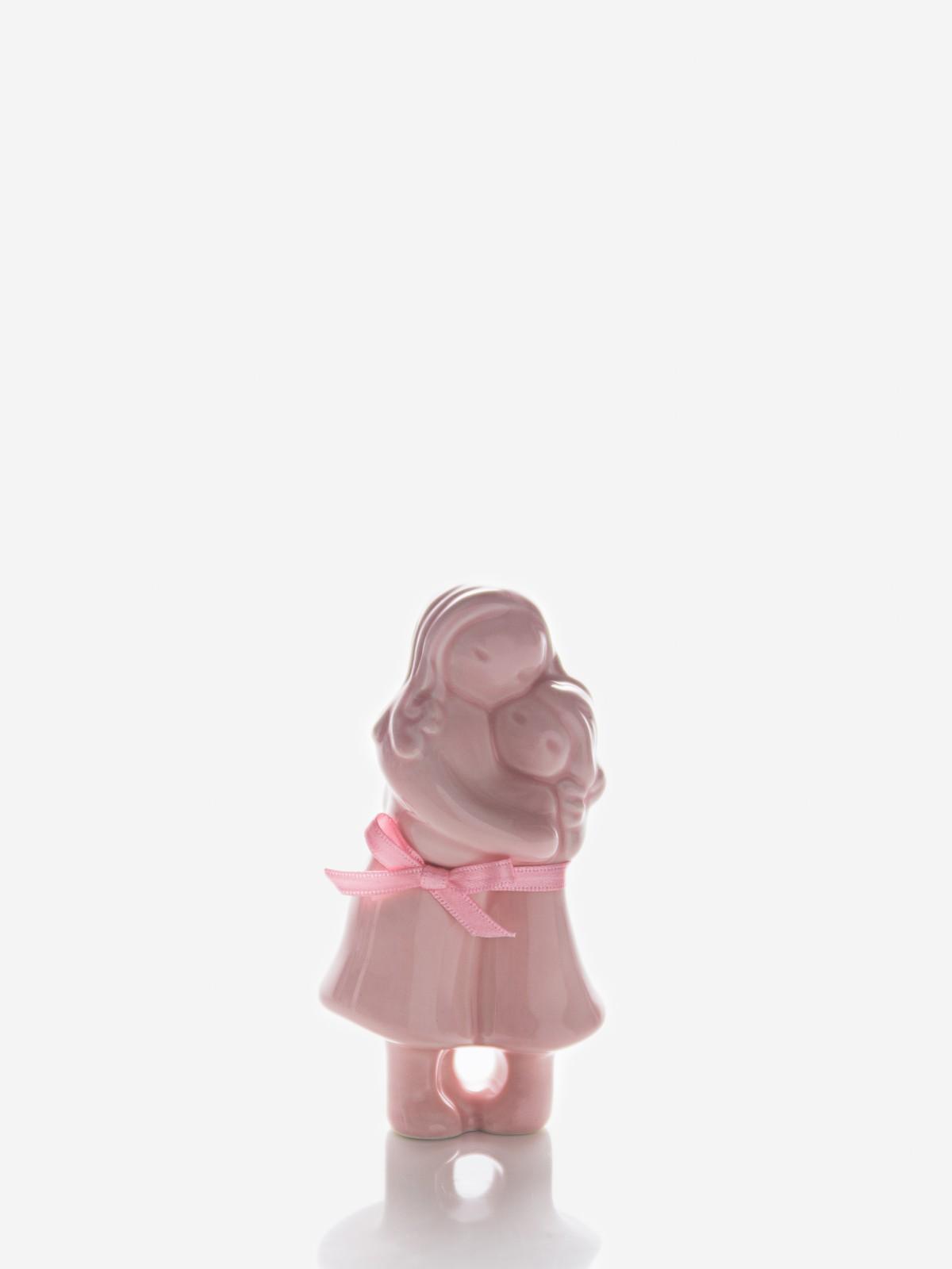 Abraço Mãe com menina rosa