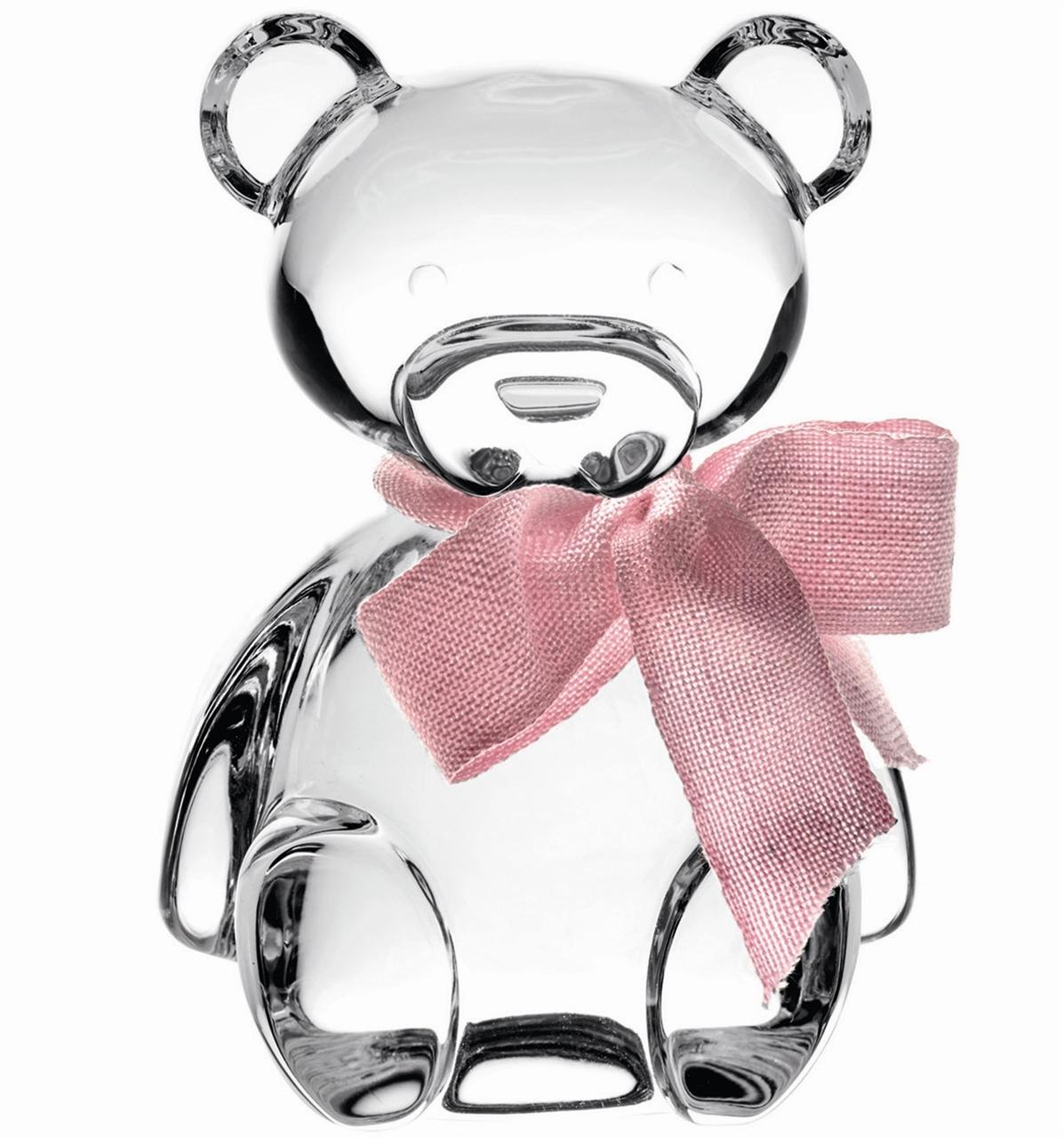 Teddy Bear - Estojo c/ Escultura Laço Rosa