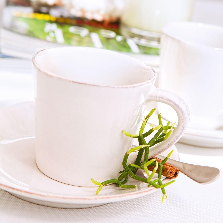 Gift 4 Chávenas e Pires Café Nova - Branco