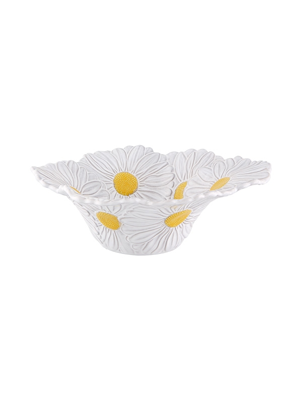 Saladeira 27 Margaridas Branco/ Amarelo