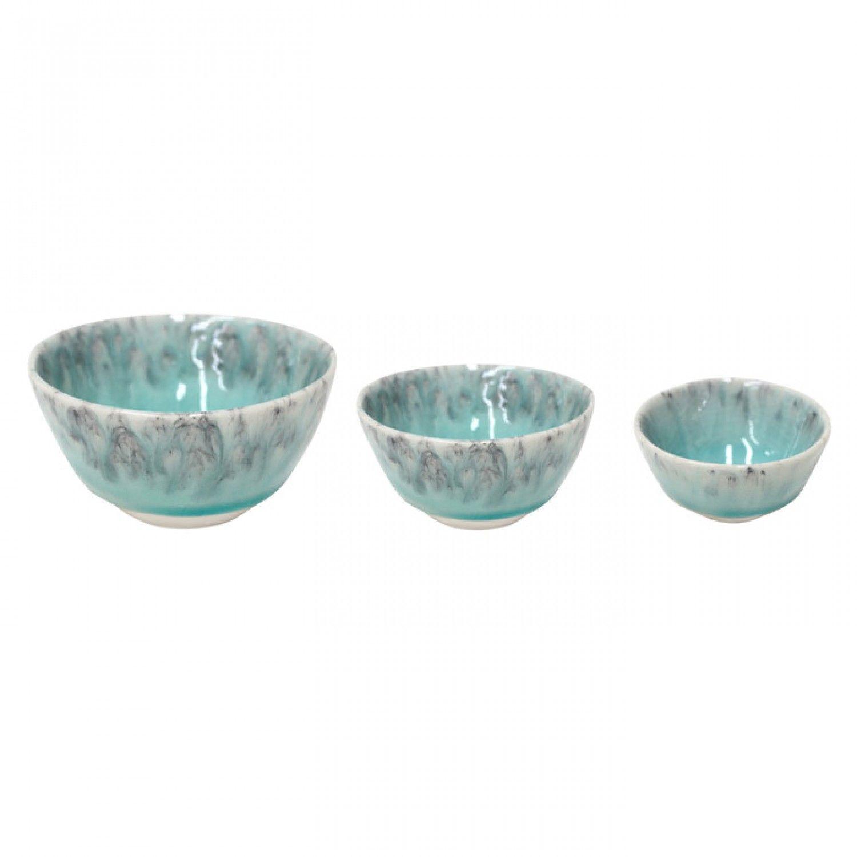 Gift 3 Taças Madeira - Azul