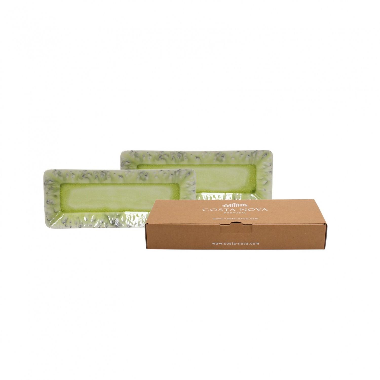 Gift 2 Tabuleiros Ret. 27cm, Madeira - Verde Limão
