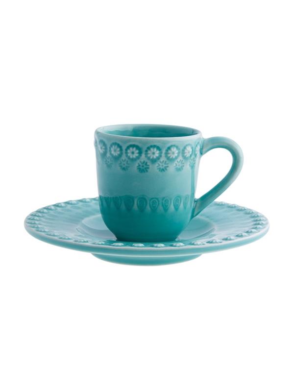 Chávena Café c/ Pires Verde Água