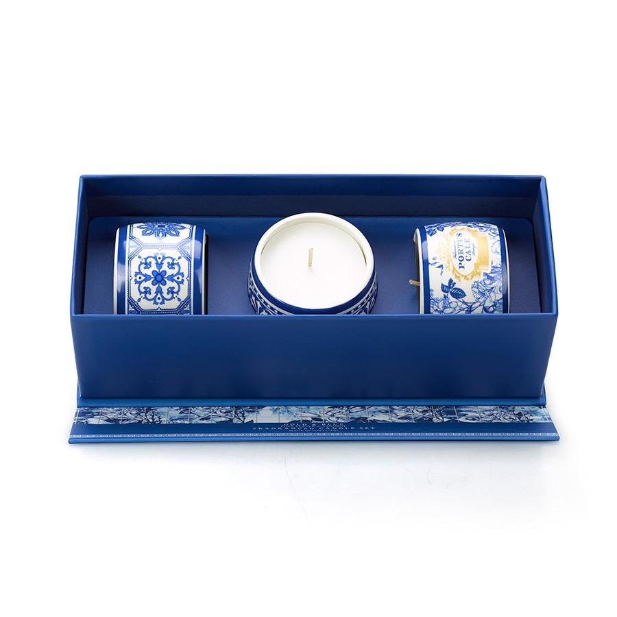 Portus Cale Gold & Blue Candle