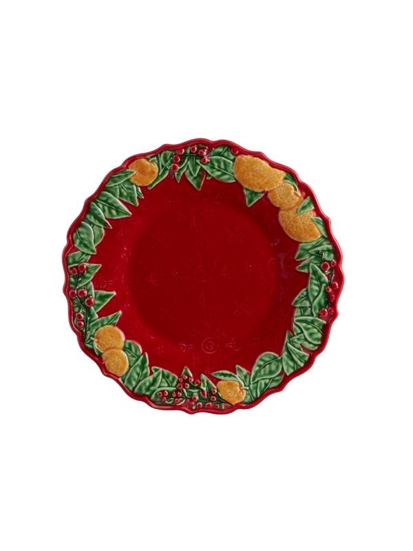 Prato Sobremesa 22 - Coroa de Natal