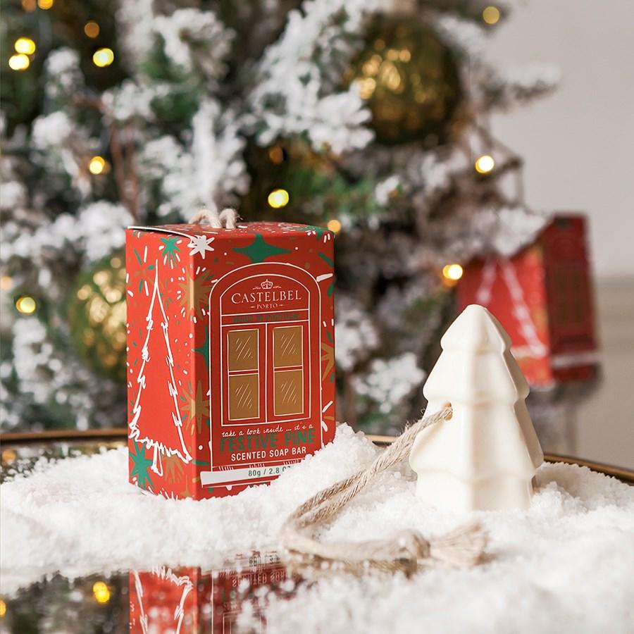 Sabonete Castelbel Happiest Xmas Tree - Red Box 80g