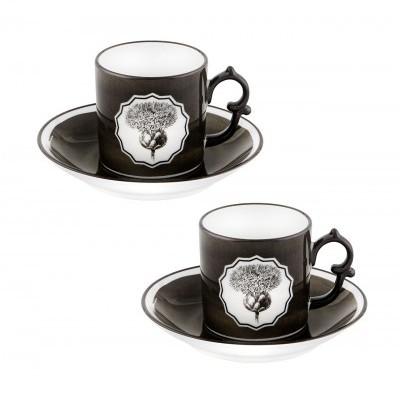 Conj. 2 Chávenas Café c/ Pires Herbariae