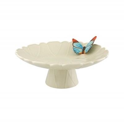 Prato com pé 39 c/borboleta