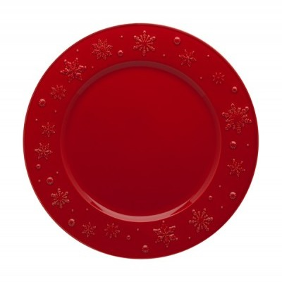 Prato Marcador 34 Vermelho - Snowflakes
