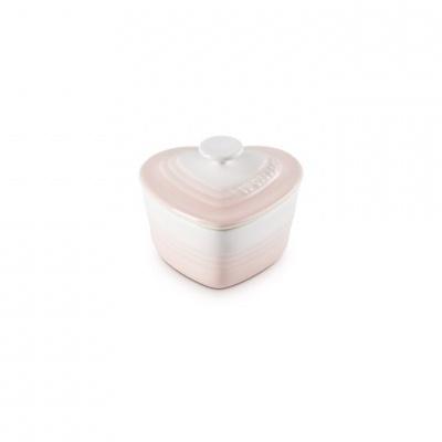 Ramekin Coração c/Tampa Shell Pink