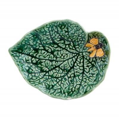 Folha Begónia c/ Borboleta 20cm