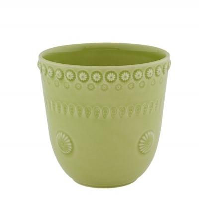 Vaso 14cm Verde Alface - Fantasia