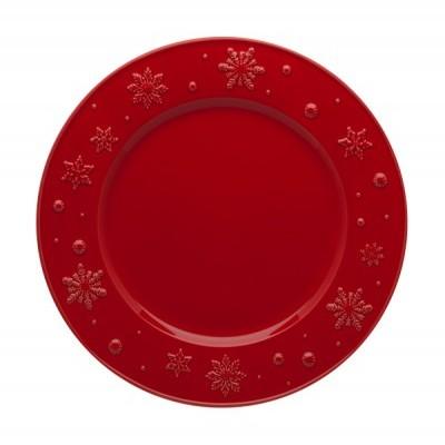 Prato Raso 28 Vermelho - Snowflakes