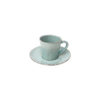 Chávena e pires café, NOVA, turquesa