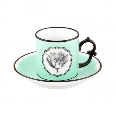 Chávena Café com Pires Green - Herbariae
