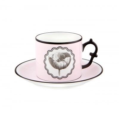 Chávena Chá com Pires Pink - Herbariae