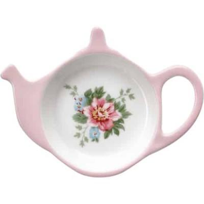 Prato para Saqueta de Chá Aurelia White