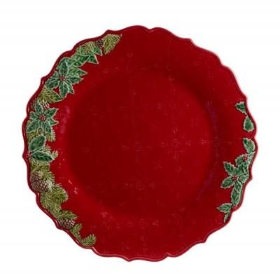 Prato Marcador 35,5 - Coroa de Natal