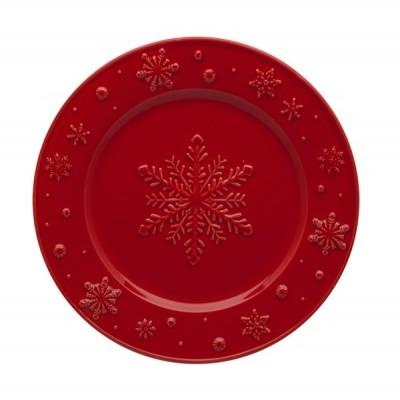 Prato Fruta 22 Vermelho - Snowflakes