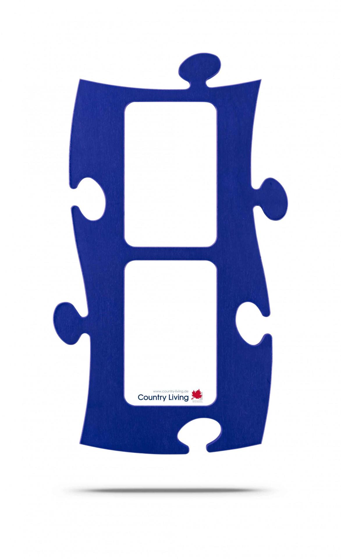 Country Living Moldura Puzzle+ (2x) 10x15cm azul
