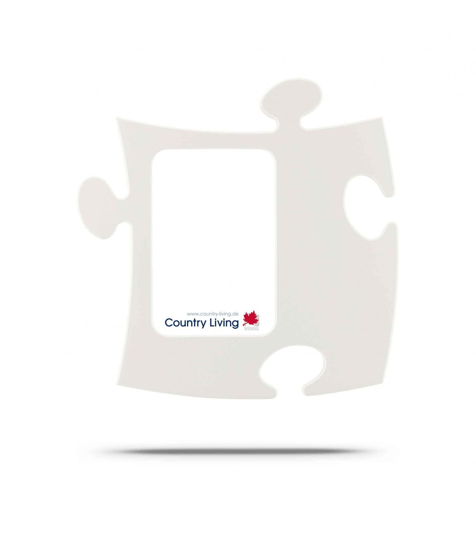 Country Living Moldura Puzzle+ 9x13cm branca