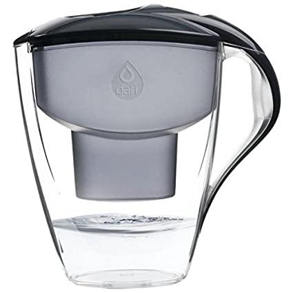 Jarro Purificador água com 2 filtros Astra preto Dafi