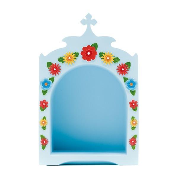 Oratório azul, com flores Little Drops of Water
