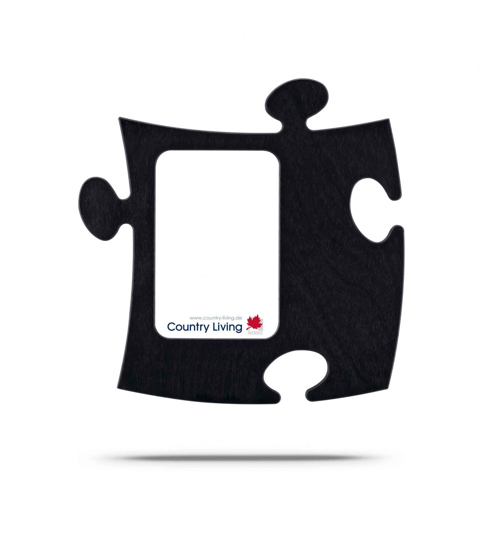 Country Living Moldura Puzzle+ 9x13cm preta