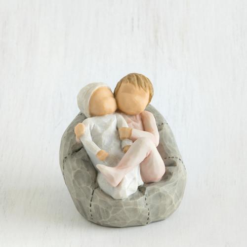 """Figura """"O Meu Novo Bebé"""" rosa Willow Tree"""