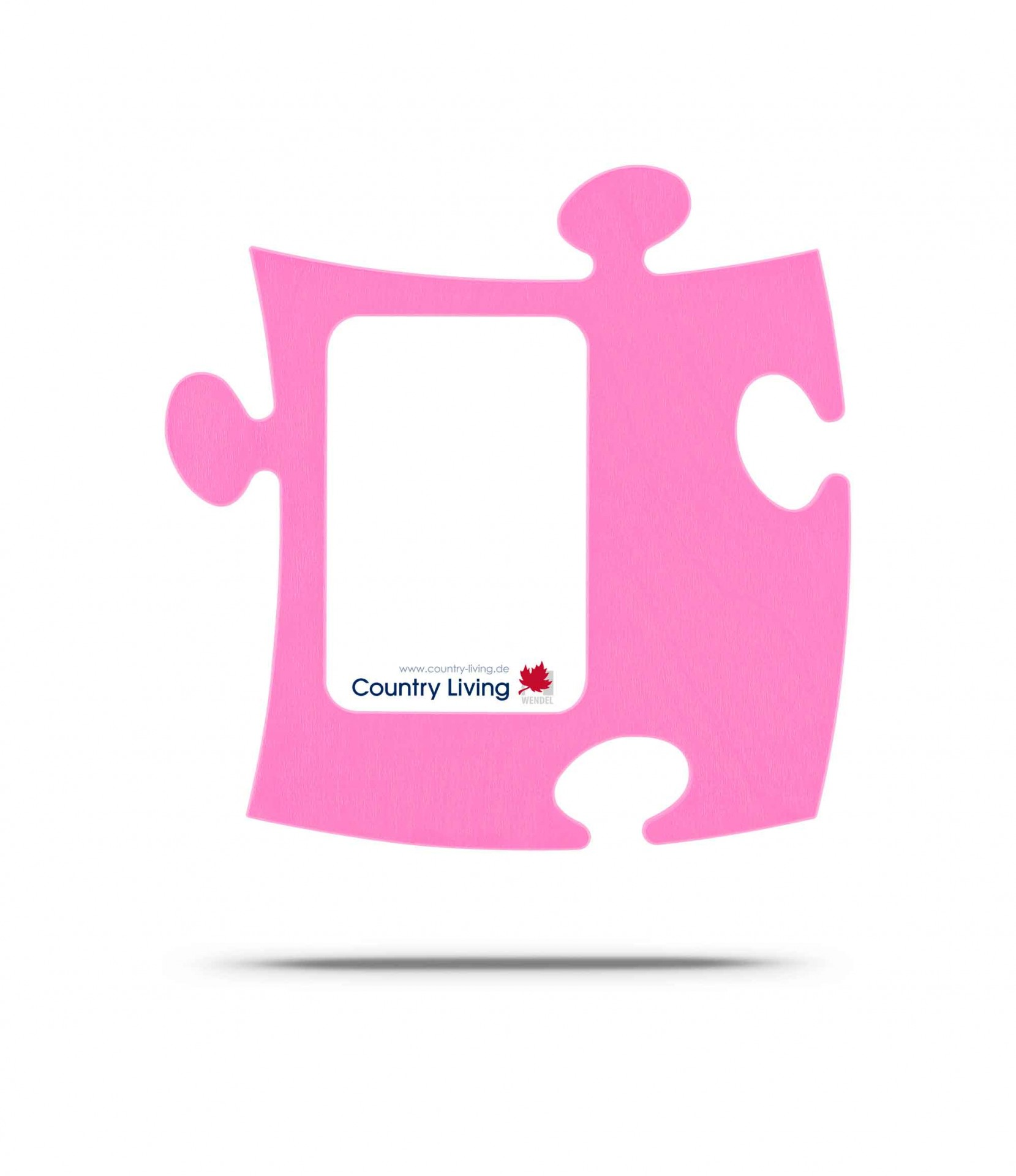 Moldura Puzzle+ 9x13cm rosa Country Living