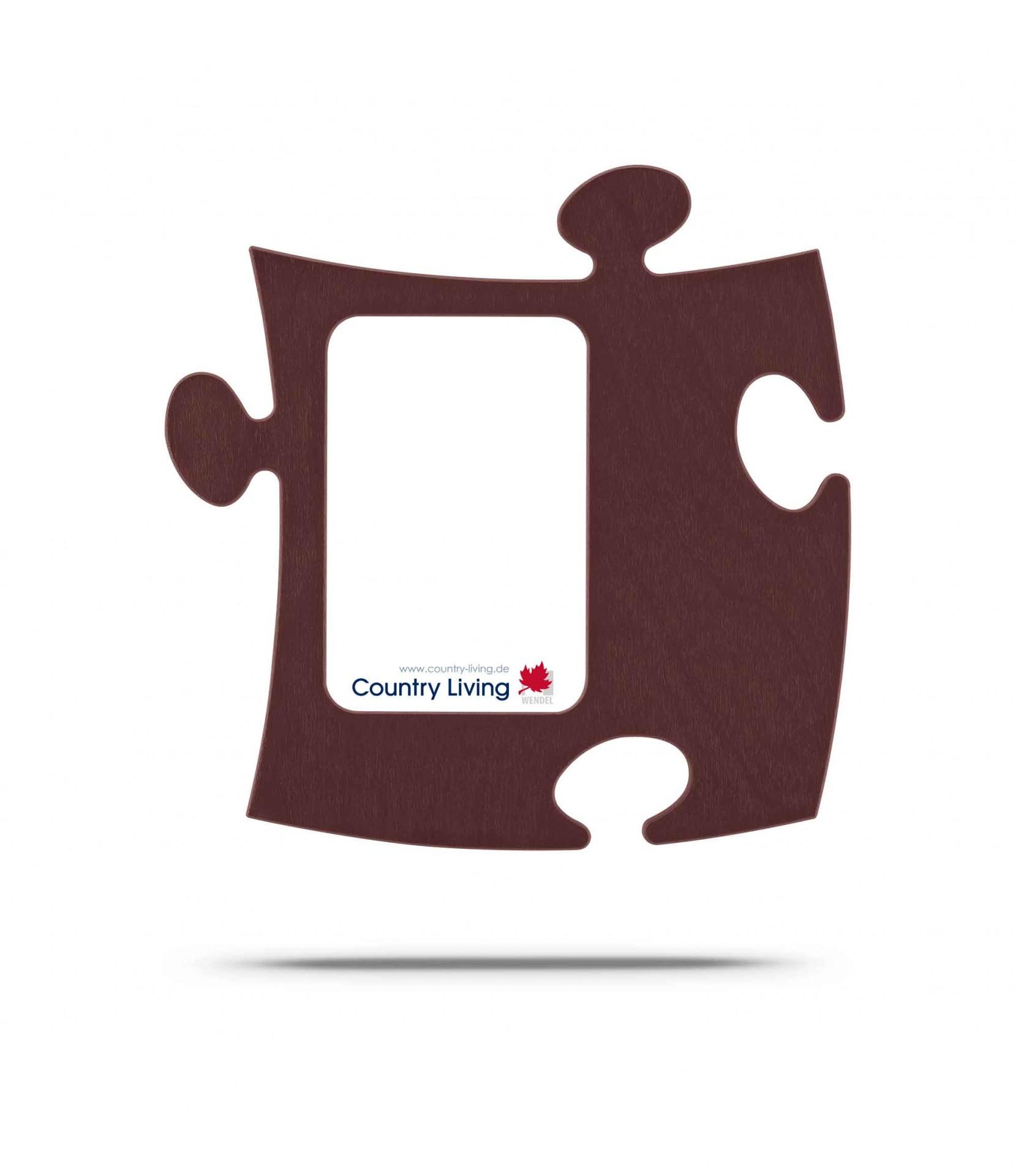 Country Living Moldura Puzzle+ 9x13cm castanha