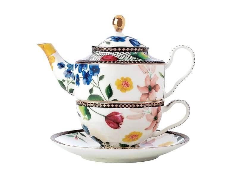 Tea's & C's Contessa chá para um com Infusor 380ML branco