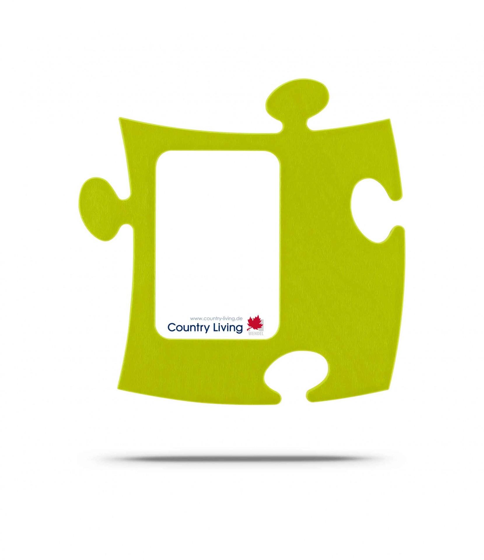 Country Living Moldura Puzzle+ 9x13cm Verde Alface