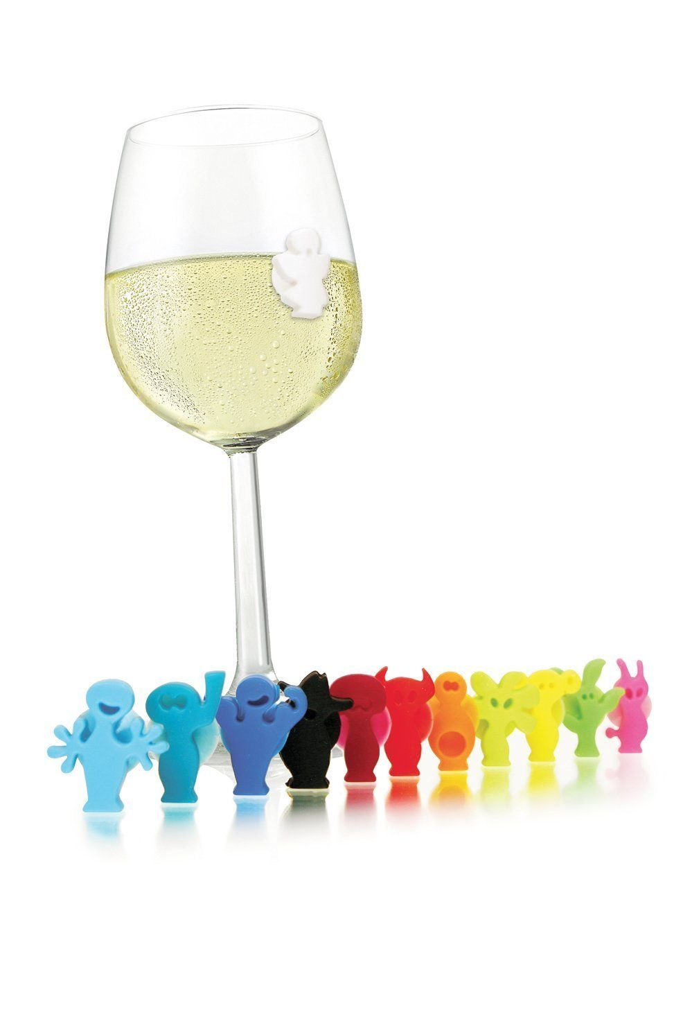 Set 12 Marcadores de copos silicone Party People Vacu Vin