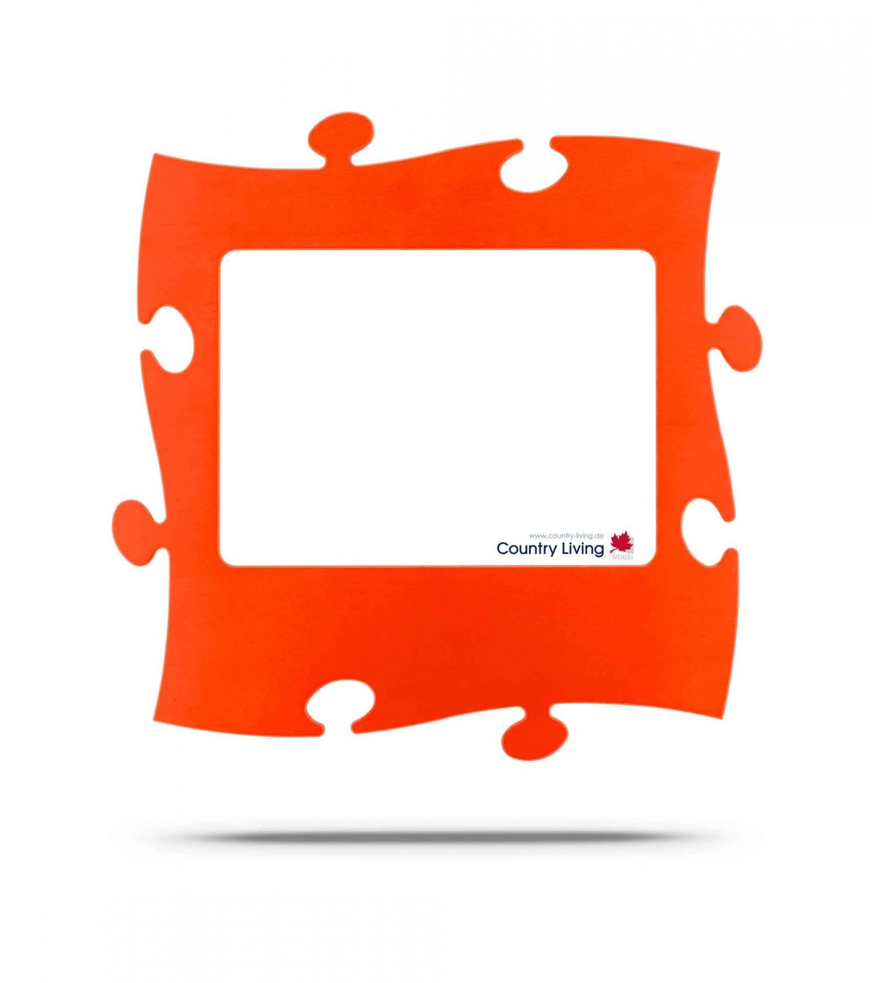 Country Living Moldura Puzzle+ 20x28cm laranja