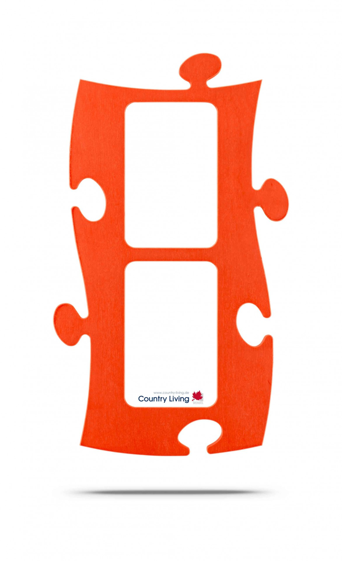 Country Living Moldura Puzzle+ (2x) 10x15cm laranja