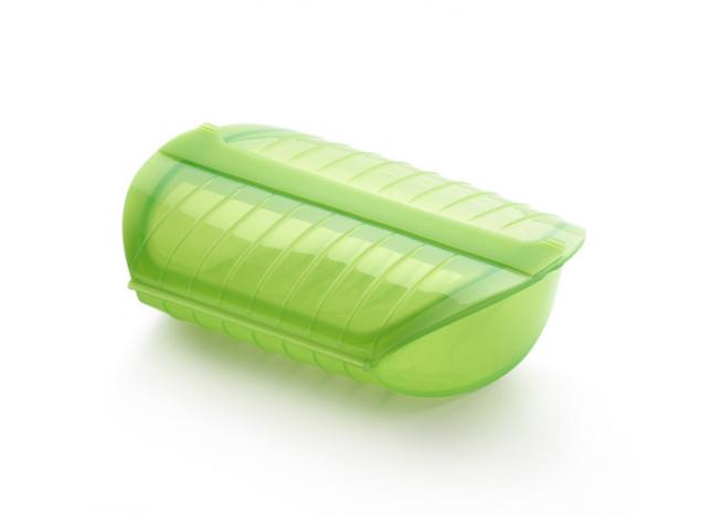 Estojo para cozinhar a vapor 3-4pessoas silicone verde Lékué